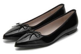 9e7fcd0000e52e ... Schuhe den Stil des Abendkleides Bariello Ballerina Lackleder Übergröße  768-16