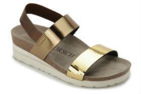 HORSCH Exklusiv Sandale Leder Metallic-Look Untergröße 684-16