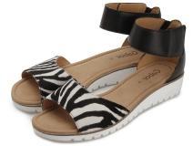Gabor Sandale Zebraprint Übergröße 648-16