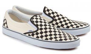 Vans Classic Slip-On Sneaker Übergröße weiß-schwarz 371-26