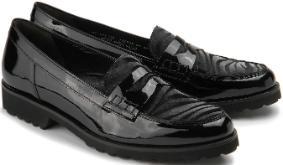 Gabor Penny-Loafer Leder Fell schwarz Übergröße 621-26