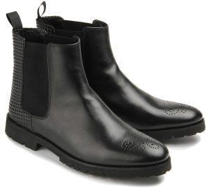 Bariello Milano Chelsea-Boots Stiefeletten Leder Stretch-Einsätze Dandy-Chic Übergrößen