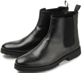 Bariello Milano Chelsea-Boots Stiefeletten seitliche Stretch-Einsätze Übergröße 577-26