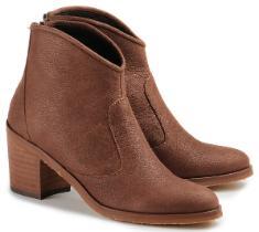 Bariello Milano Stiefelette Leder Boho-Look Übergröße 715-25