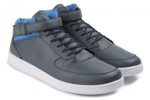 Lacoste Sneaker Leder dunkelgrau blau Übergröße 109-16