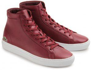 Lacoste Sneaker Leder rot Übergröße 091-26