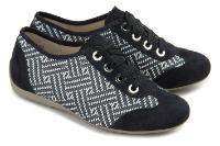 Semler G-Weite Sneaker Samt-Chevreau Übergröße 897-16