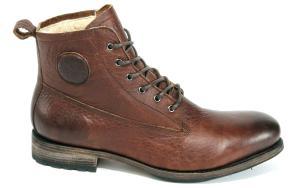 Blackstone Lammfell-Boots Two-Tone-Effekt braun Übergröße 277-24