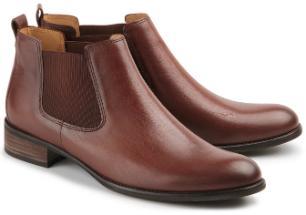 Gabor Chelsea-Boots Leder rotbraun Damenschuhe Übergröße 743-26