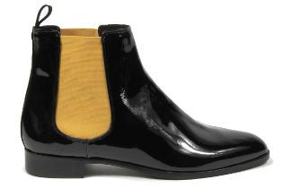 HORSCH Exklusiv Chelsea-Boots Lackleder Damenschuhe Übergröße 769-25