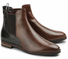 Rossaro Chelsea-Boot Stiefelette Leder braun Damenschuhe Untergröße 506-26