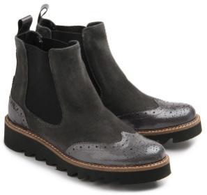 Rossaro Chelsea-Boots grau Gummisohle Damenschuhe Übergröße 424-26
