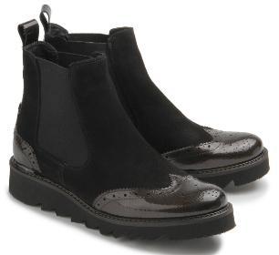 Rossaro Chelsea-Boots schwarz Gummisohle Damenschuhe Übergröße 423-26
