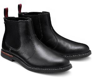 Timberland Chelsea-Boots Leder schwarz Herrenschuhe Übergröße 151-26