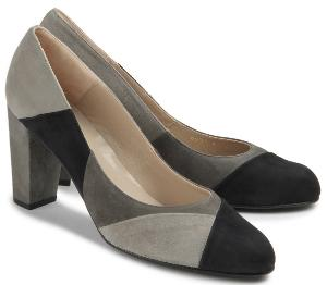 Bariello Milano Pumps Patchwork-Optik Grau-Kombination Übergröße 775-26