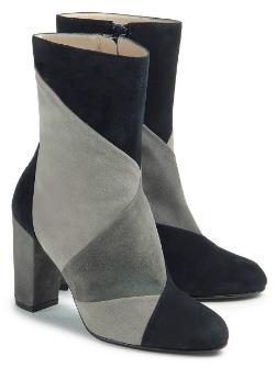 Bariello Milano Stiefeletten Patchwork-Farbmix Blockabsatz Untergröße 774-26