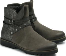 Biker Boots Stilmix Nietenbesatz Rock-Chic Übergröße 571-26