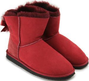 HORSCH Exklusiv Trend-Boots Lammfell Zierschleife Satin Übergröße 452-26