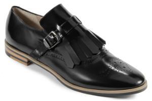 Rossaro Loafer mit dekorativer Lasche und Schnalle schwarz Übergröße 729-25