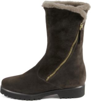 Stiefel aus Italien seitlicher Reißverschluss Lammfellfutter Untergröße 460-25