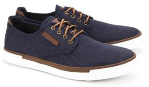 Camel Active Sneaker Canvas kontrastreiche Schnürung Blau Übergröße 7109-17