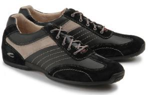 Camel Active Sneaker Naht-Elemente asymmetrische Material-Mix Schwarz Grau Übergrößen 237-25