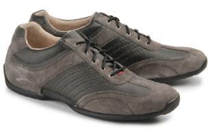 Camel Active Sneaker Vintage-Leder Grau Übergröße 231-25