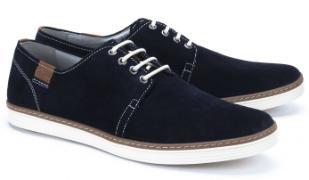 Camel Active Sneaker kontrastreiche Schnürung Blau Übergröße 7106-17