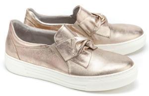 Gabor Slip-on Sneaker Schleifen-Detail G-Weite Rose Uebergroesse 3083-17