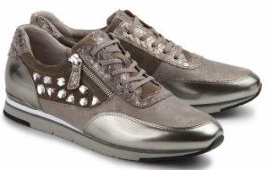 Gabor Sneaker Material Mix Beige Uebergroesse 677 26