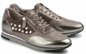 Gabor Sneaker Material-Mix Beige Uebergroesse 677-26