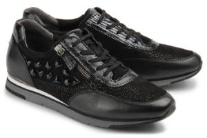 Gabor Sneaker Material-Mix Schwarz Uebergroesse 629-26