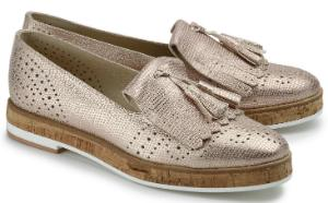 Plateau-Slipper Metallic-Look Rose Uebergroesse 2753-17