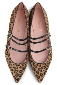 Pretty Ballerinas Riemen Animal-Print Braun Uebergroesse LIMITED