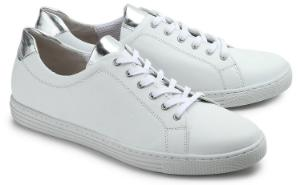 Sneaker Elemente in Metallic-Optik Weiss Uebergroesse 3032-17