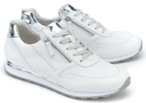 Sneaker Elemente in Metallic-Optik Weiss Uebergroesse 3087-17