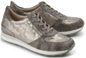 Sneaker Reissverschluss schimmernde Oberflaeche Multicolor Uebergroesse
