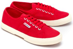 Superga Sneaker Canvas Rot Uebergroesse