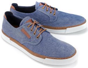 Camel Active Sneaker kontrastreiche Schnuerung Soft Walk Eigenschaft Blau Uebergroesse