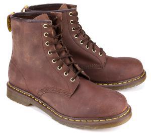 Dr Martens Boots 8 Loch Leder Braun Uebergroesse