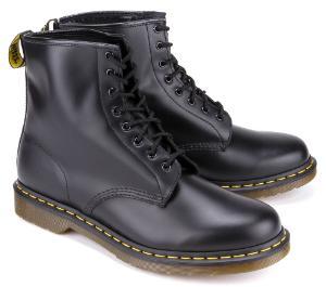 Dr Martens Boots 8 Loch Leder Schwarz Uebergroesse