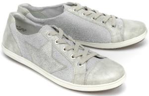 Grau Silber Damen-Sneaker mit Mix aus sportiven Elementen in Uebergroessen