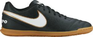 Nike Tiempo Rio 3 Fussballschuh speziell fuer den Halleneinsatz konzipiert Schwarz Uebergroesse