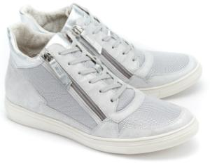 Silberne Gabor High Top Sneaker in Uebergroessen