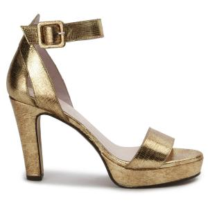 High Heels Metallic-Look Bronze Gold 85 mm mit Plateau Uebergroesse