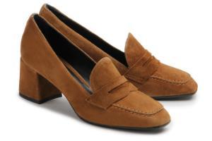 Loafer Blockabsatz Braun Untergroesse