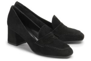 Loafer Blockabsatz Schwarz Untergroesse