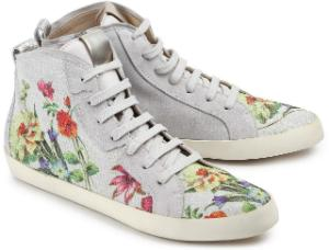 High Top Sneaker in Uebergroesse mit floralem Print