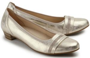 Pumps Leder G-Weite Gold Metallic Uebergroesse