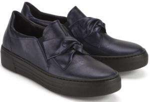 Blaue Slip-on Sneaker mit Schleifen-Detail fuer Damen